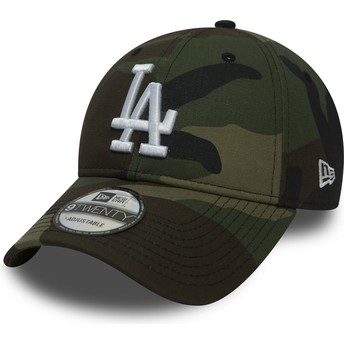 Gorra curva camuflaje ajustable 9TWENTY Essential Packable de Los Angeles Dodgers MLB de New Era