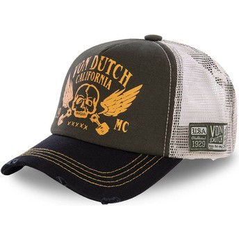 Gorra trucker marrón y negra CREW5 de Von Dutch