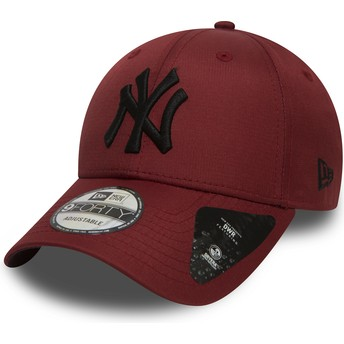 Gorra curva granate ajustable con logo negro 9FORTY Ripstop de New York Yankees MLB de New Era