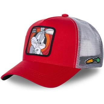 Gorra trucker roja Bugs Bunny BUG1 Looney Tunes de Capslab