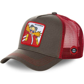 Gorra trucker gris y roja Doctor Eggman EGG Sonic the Hedgehog de Capslab