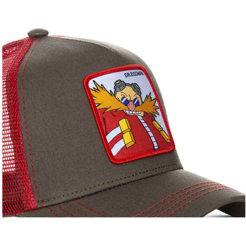 Gorra trucker gris y roja Doctor Eggman EGG Sonic the Hedgehog de ... e96cadf95a6