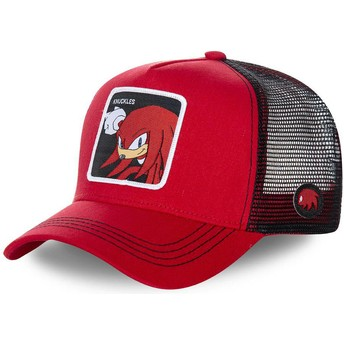Gorra trucker roja y negra Knuckles the Echidna KNU Sonic the Hedgehog de Capslab