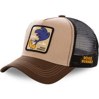Gorra trucker marrón Correcaminos ROA2 Looney Tunes de Capslab