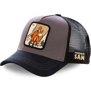 Gorra trucker gris y negra Sam Bigotes SAM2 Looney Tunes de Capslab 1bd7ef04f55