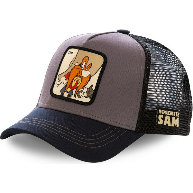 Gorra trucker gris y negra Sam Bigotes SAM2 Looney Tunes de Capslab ... f07865f3d27