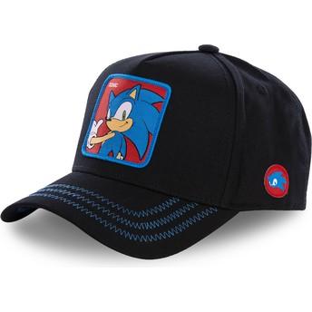 Gorra curva negra snapback Sonic SO1B Sonic the Hedgehog de Capslab