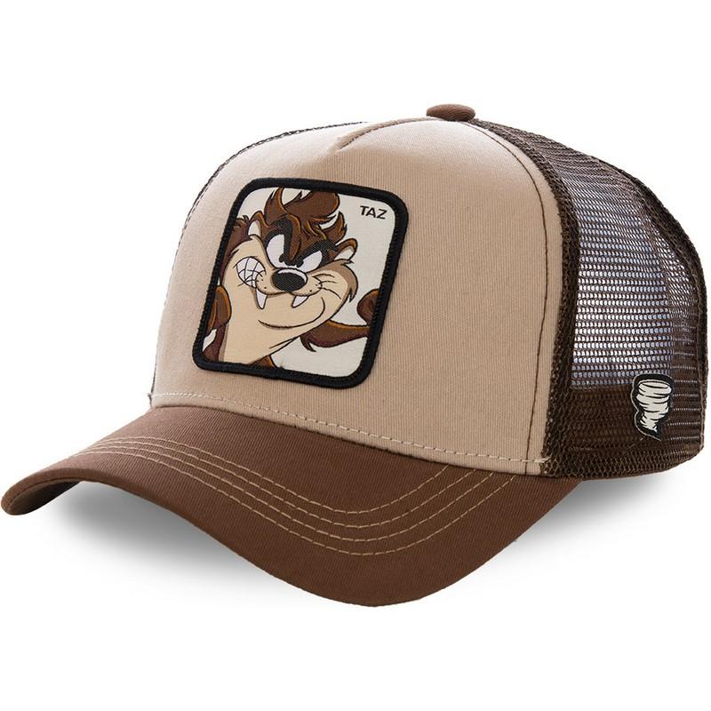 Gorra trucker marrón Diablo de Tasmania TAZ2 Looney Tunes de Capslab ... 48cff3cc0f9