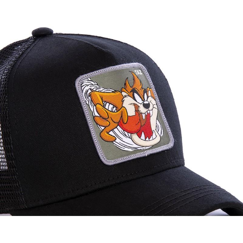 Gorra trucker negra Diablo de Tasmania TAZ3 Looney Tunes de Capslab ... 2ec87568d65