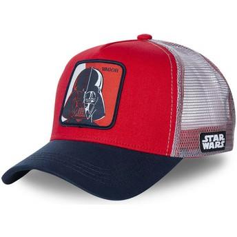 Gorra trucker roja, blanca y azul marino Darth Vader VAD1 Star Wars de Capslab