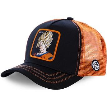 Gorra trucker negra y naranja Son Goku Super Saiyan GO3 Dragon Ball de Capslab