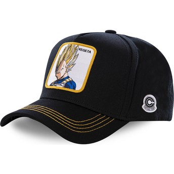 Gorra curva negra snapback Vegeta Super Saiyan VE2 Dragon Ball de Capslab