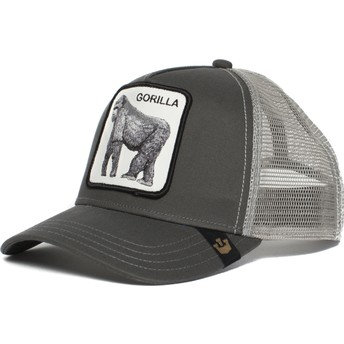 Gorra trucker gris gorila King of the Jungle de Goorin Bros.