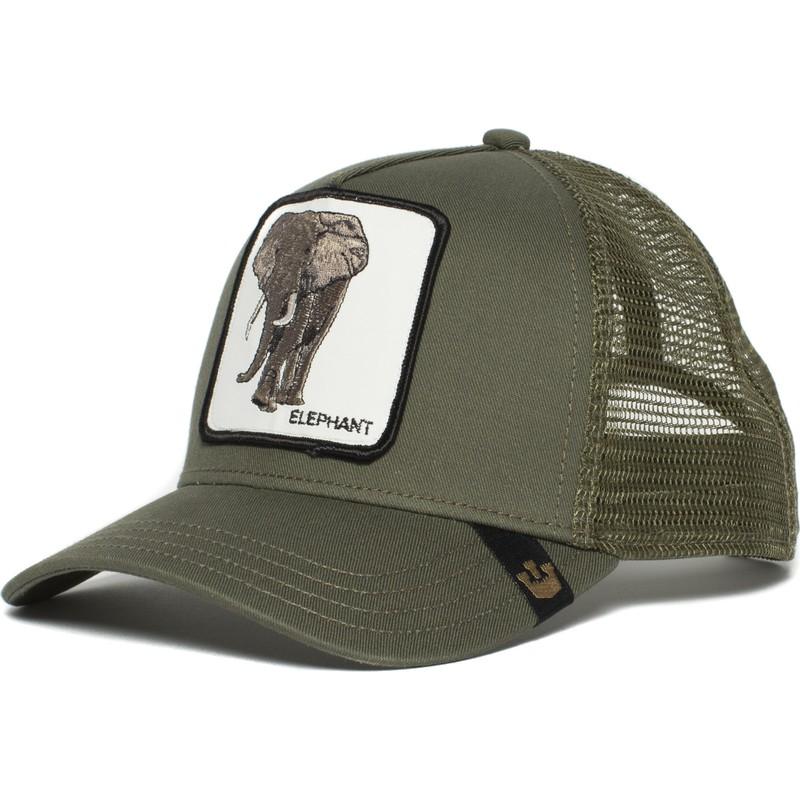 04e8e97dd99df Gorra trucker verde elefante Elephant de Goorin Bros.  comprar ...