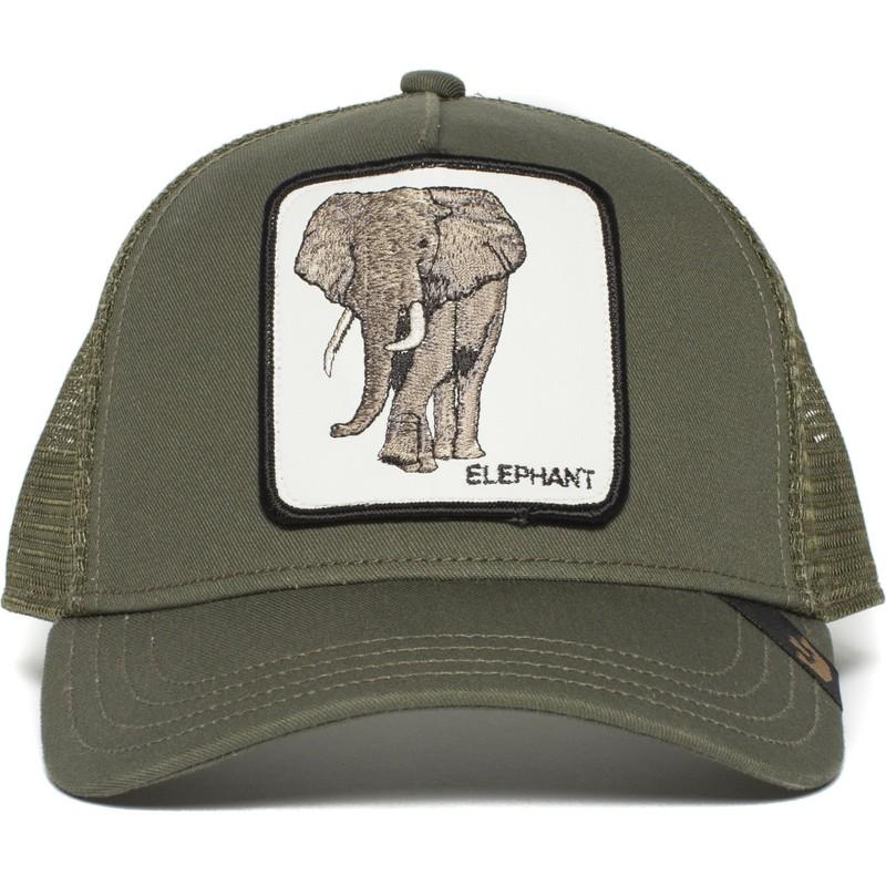 Gorra trucker verde elefante Elephant de Goorin Bros.  comprar ... ee96f933e71