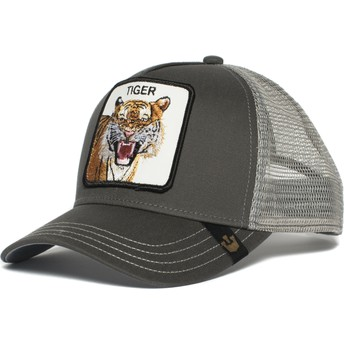Gorra trucker gris tigre Eye of the Tiger de Goorin Bros.