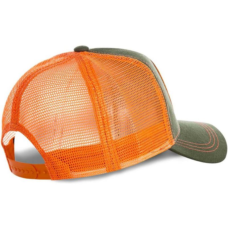 Gorra trucker verde y naranja Blanka BLA Street Fighter de Capslab ... 75f38d931ed
