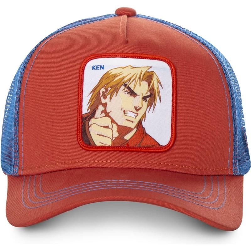 Gorra trucker roja y azul Ken Masters KEN Street Fighter de Capslab ... ada25e11e62