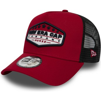Gorra trucker roja Patch A Frame de New Era