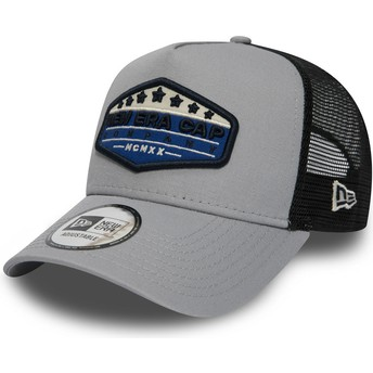 Gorra trucker gris Patch A Frame de New Era