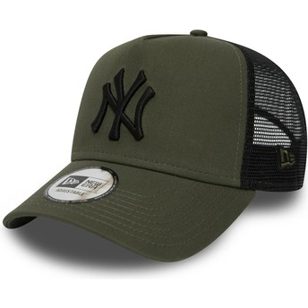 Gorra trucker verde League Essential A Frame de New York Yankees MLB de New Era