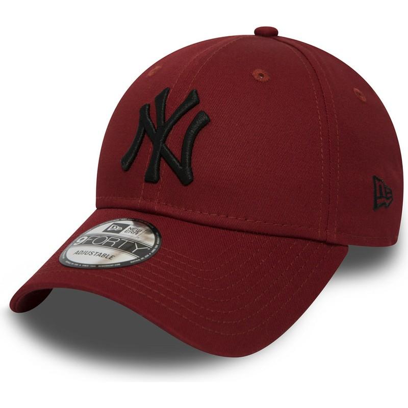 Gorra curva roja ajustable con logo negro 9FORTY Essential de New ... 817f05f39e7