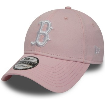 Gorra curva rosa ajustable 9FORTY Essential de Boston Red Sox MLB de New Era