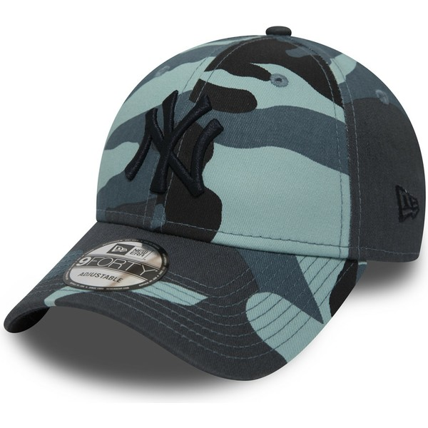 gorra-curva-camuflaje-azul-ajustable-con-logo-negro-9forty-essential-de-new-york-yankees-mlb-de-new-era