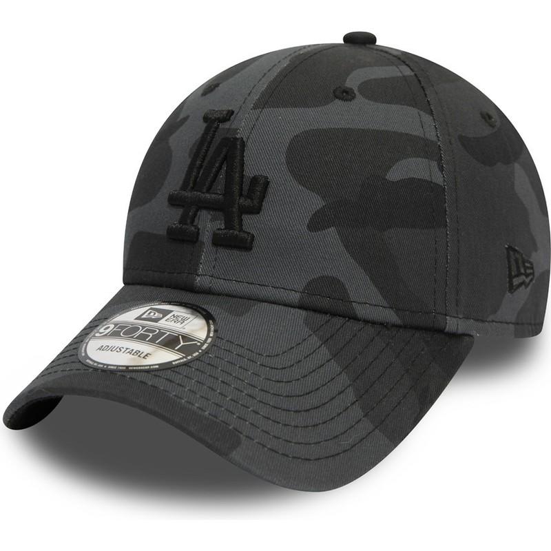 eeadf0ff420ae Gorra curva camuflaje negro ajustable con logo negro 9FORTY ...