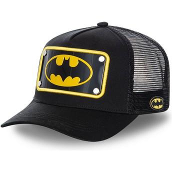 Gorra trucker negra con placa logo Batman BATP5 DC Comics de Capslab