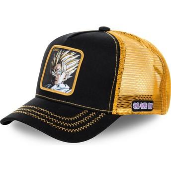 Gorra trucker negra y amarilla Son Gohan Super Saiyan 2 DBZSUP Dragon Ball de Capslab