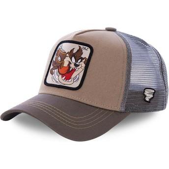 Gorra trucker marrón Diablo de Tasmania TAZ3 Looney Tunes de Capslab