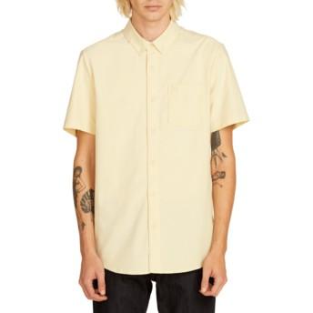 Camisa manga corta amarilla Everett Oxford Lime de Volcom