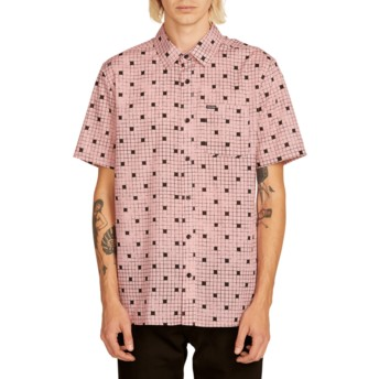 Camisa manga corta rosa Crossed Up Light Mauve de Volcom