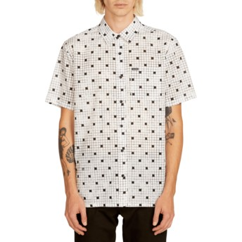 Camisa manga corta blanca Crossed Up White de Volcom