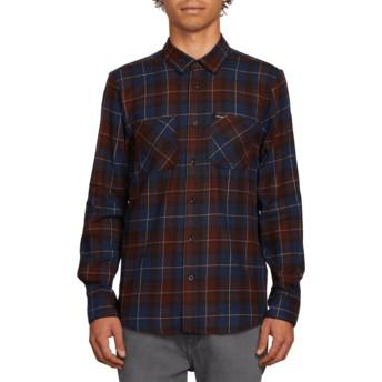 Camisa manga larga azul a cuadros Lumberg Flannel Melindigo de Volcom