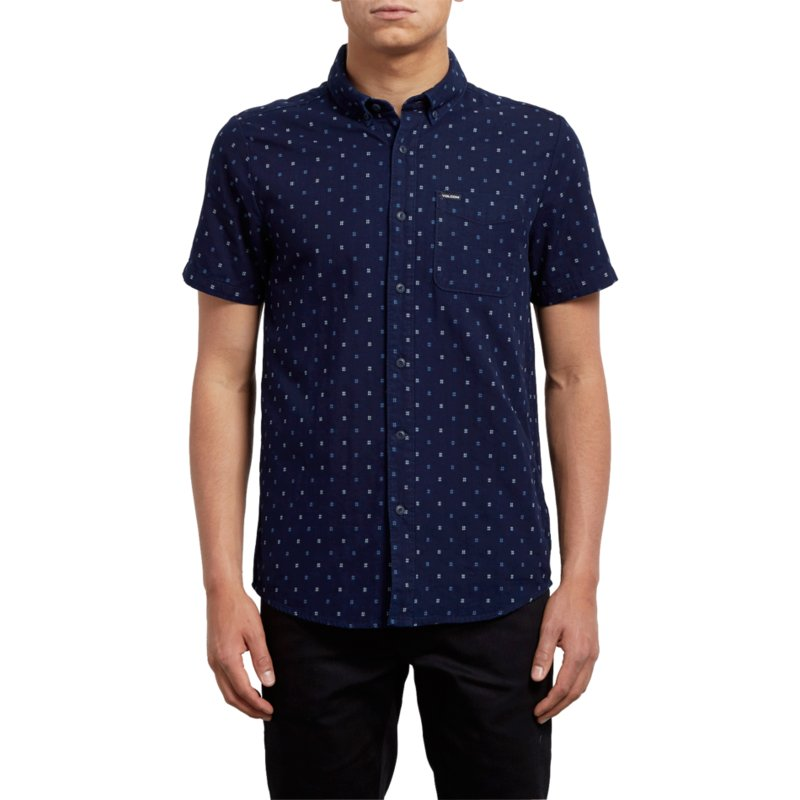 dc58cf9df2949 Camisa manga corta azul marino Earl Indigo de Volcom  comprar online ...