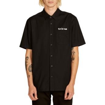 Camisa manga corta negra Crowd Control Black de Volcom