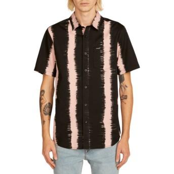 Camisa manga corta negra y rosa Fade This Light Mauve de Volcom
