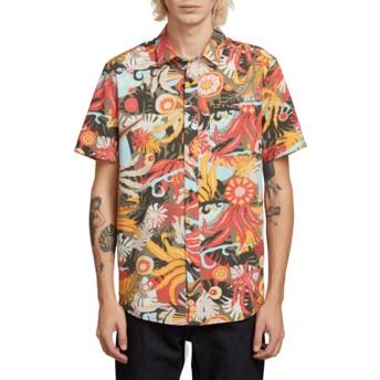 Camisa manga corta multicolor Psych Floral Army de Volcom