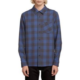 Camisa manga larga azul marino a cuadros Joneze Indigo de Volcom