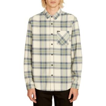 Camisa manga larga blanca a cuadros Caden Plaid Off White de Volcom