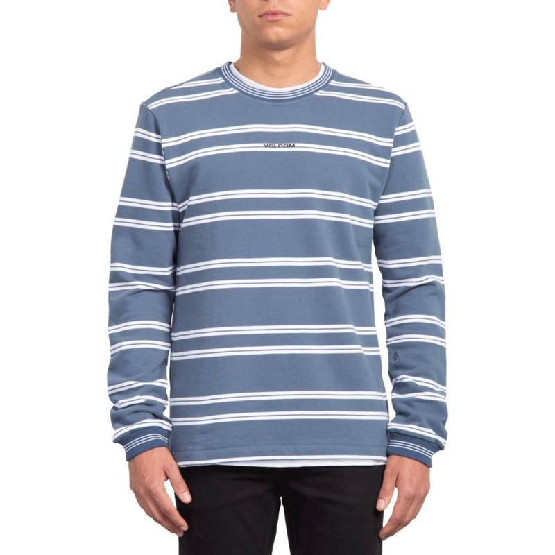 2ce0507e13da Sudadera sin capucha azul marino Canionne Indigo de Volcom: comprar ...