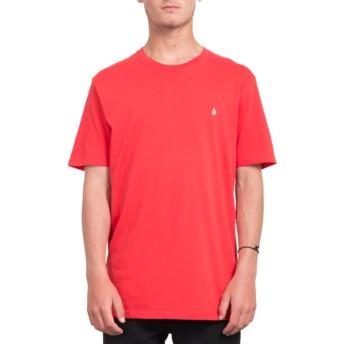 Camiseta manga corta roja Stone Blank True Red de Volcom