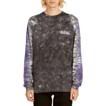 Camiseta manga larga negra y violeta Computer Crash Black de Volcom