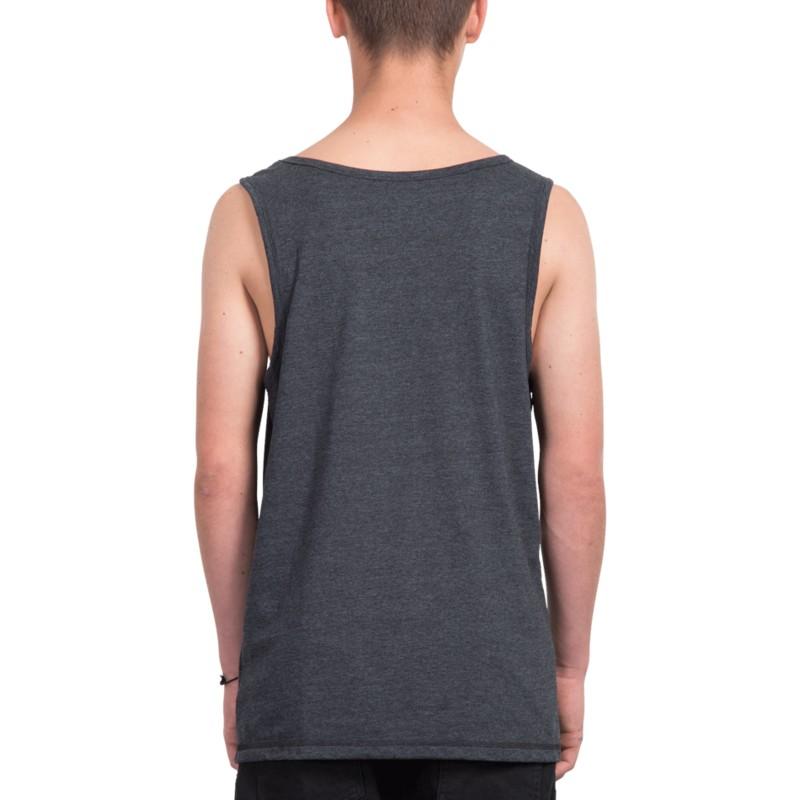 de0edbe4de Camiseta sin mangas negra Three Quarter Heather Black de Volcom ...