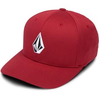 Gorra curva roja ajustada Full Stone Xfit Burgundy de Volcom