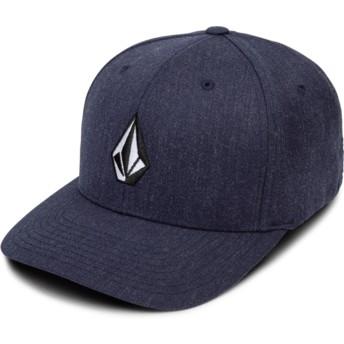 Gorra curva azul marino ajustada Full Stone Xfit Navy Heather de Volcom