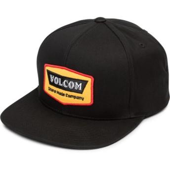 Gorra plana negra snapback Cresticle Yellow de Volcom