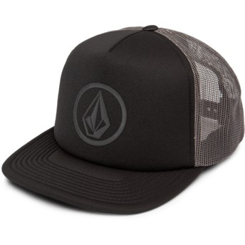Gorra trucker negra Full Frontal Cheese Asphalt Black de Volcom